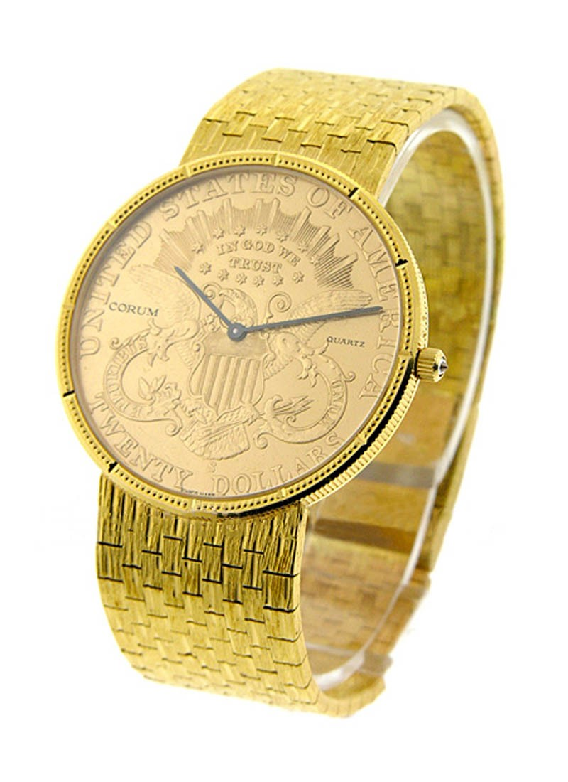 Corum $20 Gold Coin Watch on Bracelet in Yellow Gold