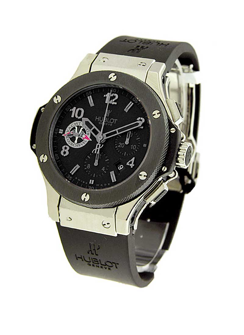 Hublot Big Bang Yacht Club Courchevel 44mm in Steel with Black Ceramic Bezel