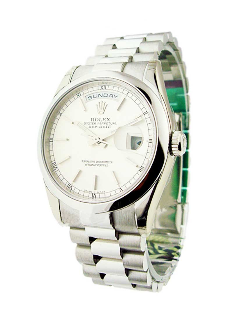 Rolex Unworn Men's Platinum Day   Date President with Domed Bezel