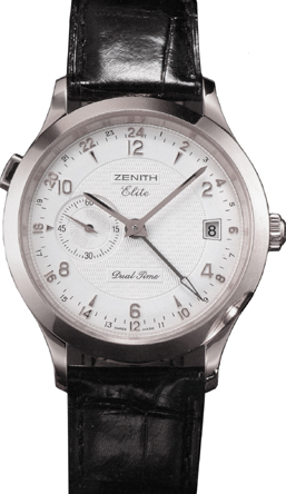 Zenith Class Elite Dual Time in White Gold