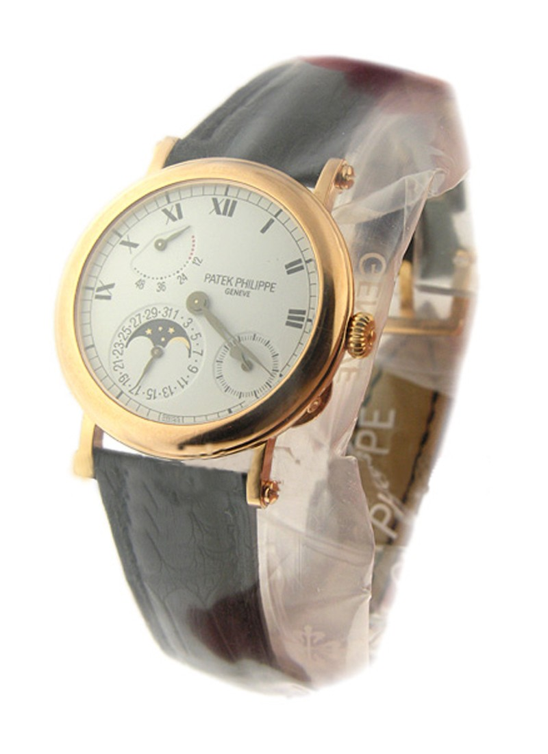 Patek Philippe Power Reserve Moon Phase Ref 5054 in Rose Gold