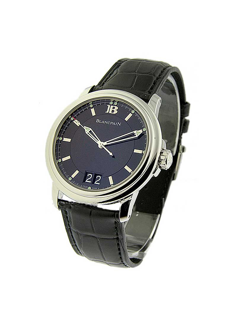 Blancpain Leman Ultra Slim Big Date 40mm Automatic in Steel