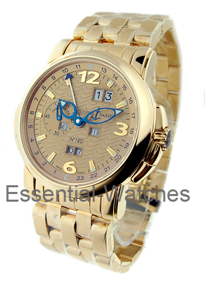 Ulysse Nardin GMT Perpetual 42mm in Rose Gold