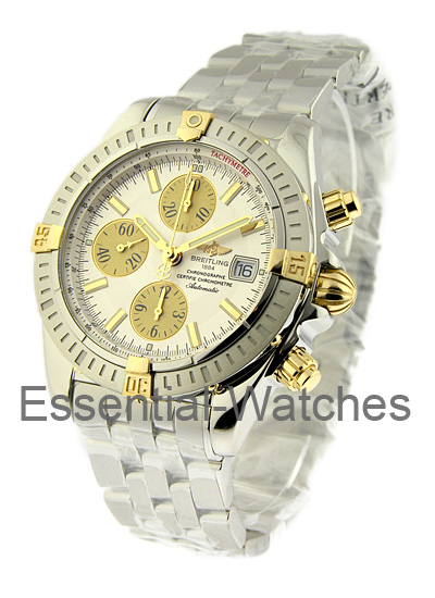 Breitling Chronomat Evolution 43mm in Steel and Yellow Gold