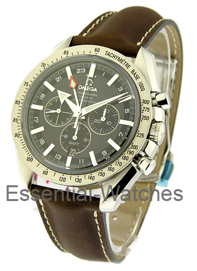 Omega Speedmaster Broad Arrow GMT Chronograph 44mm Automatic in Steel