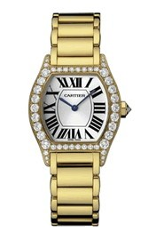 Cartier Tortue with Diamond Case - Small Size in Yellow Gold