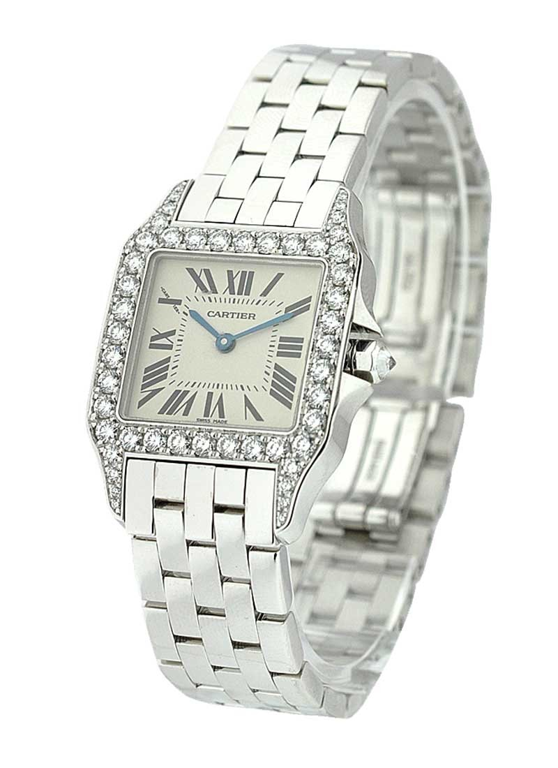 Cartier Santos Demoiselle in White Gold