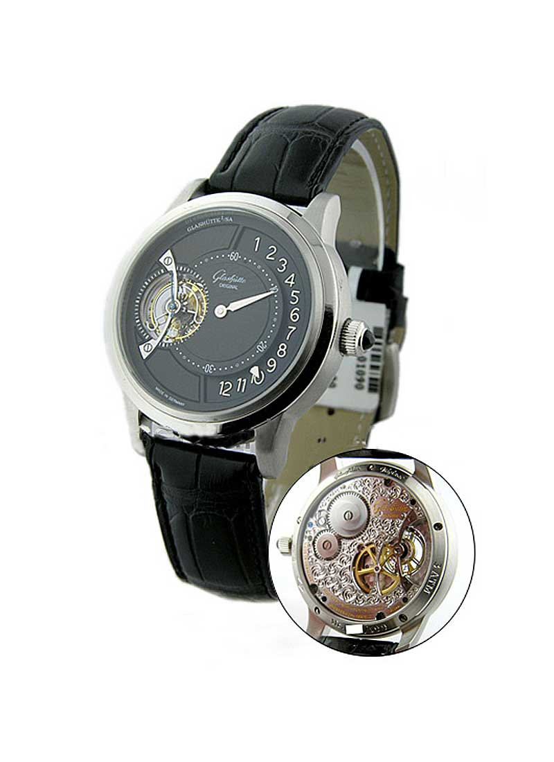 Glashutte Panomatic Tourbillion Regulator 40mm Automatic in Platinum