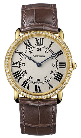 Cartier Ronde Louis Cartier on Yellow Gold and Diamond Bezel