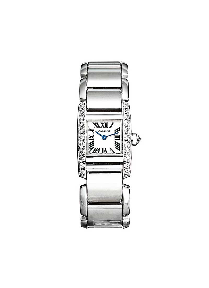 Cartier Tankissime in White Gold with Partial Diamond Bezel