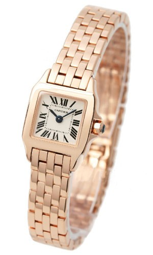 Cartier Santos Demoiselle   Mini Size in Rose Gold