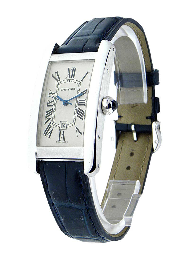 Cartier Tank Americaine in White Gold - Mid Size