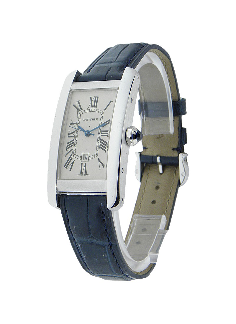 Cartier Tank Americaine in White Gold   Mid Size