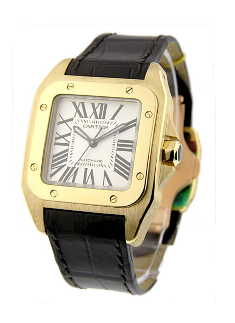 Cartier Santos 100 in Yellow Gold Medium Size