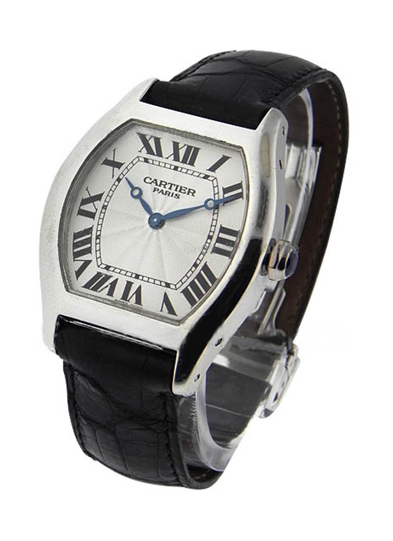 Cartier Tortue Mens Size in Platinum