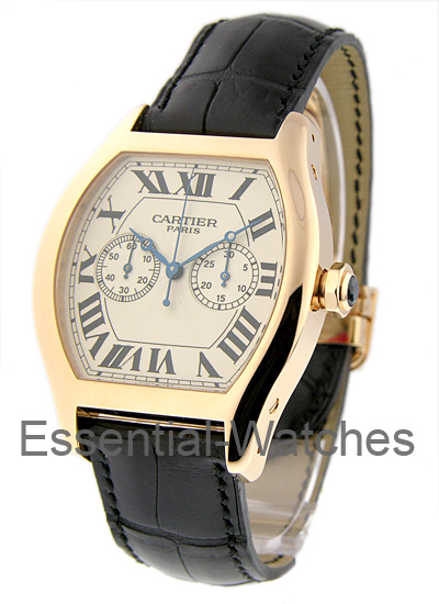 Cartier Tortue XL - Chronograph Monopoussoir