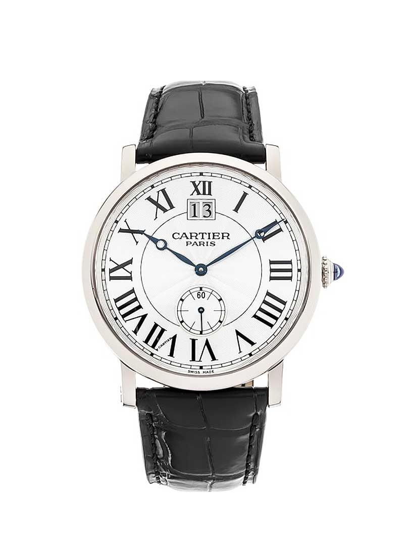 Cartier Retonde Large Date in White Gold