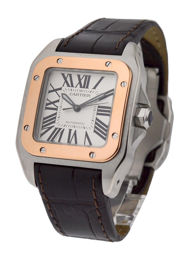 Cartier Santos 100 2-Tone - Small Size in 2-Tone