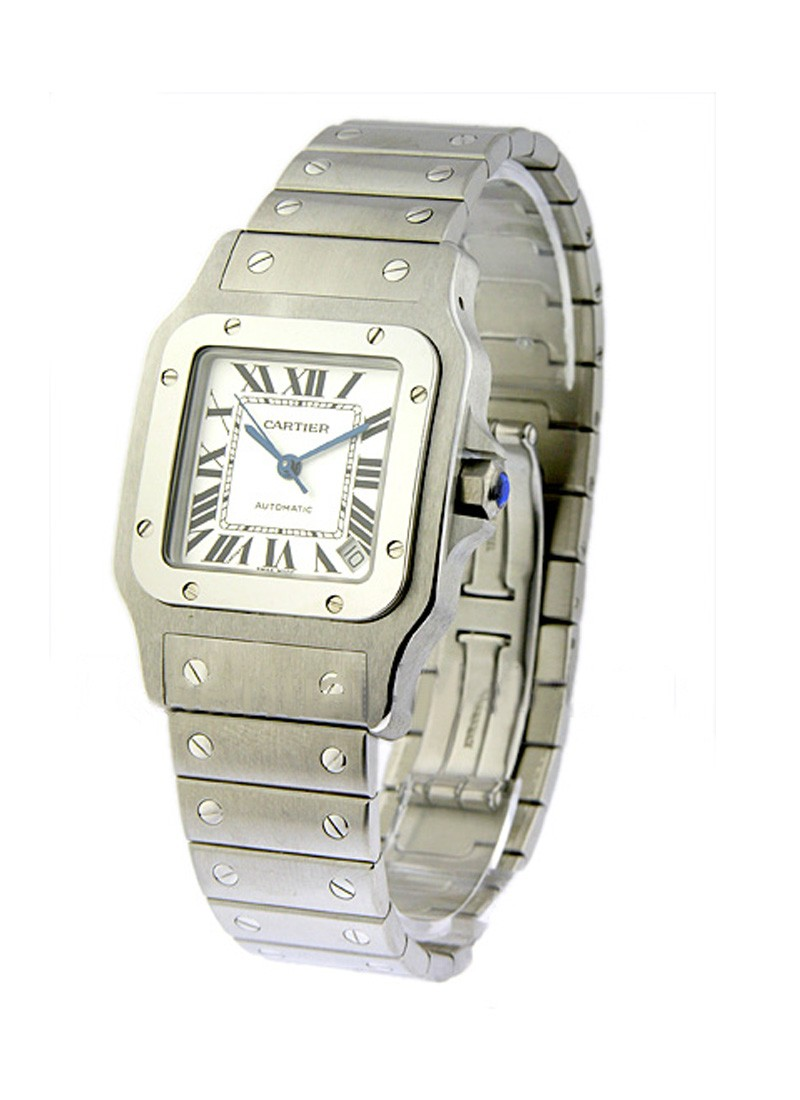 Cartier Santos XL Size 32mm in Steel