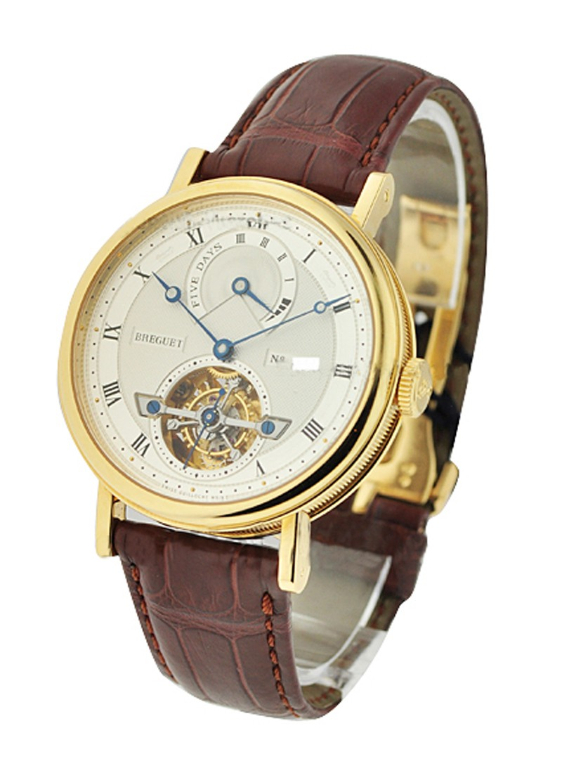 Breguet 5317 Tourbillon with 5 Day Power Reserve in Yellow Gold