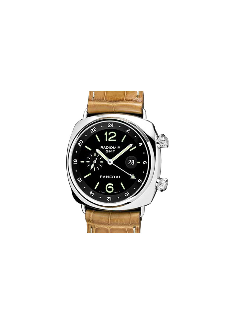 Panerai PAM 242 - Radiomir Steel GMT - 2 Time Zones