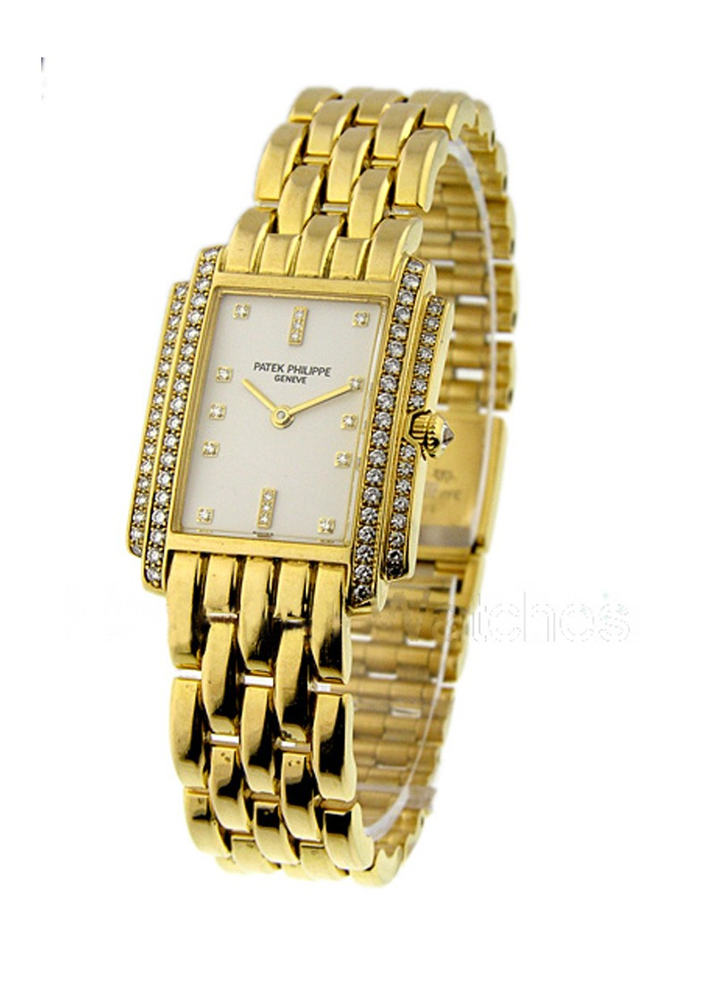 Patek Philippe Gondolo in Yellow Gold with Diamonds Bezel
