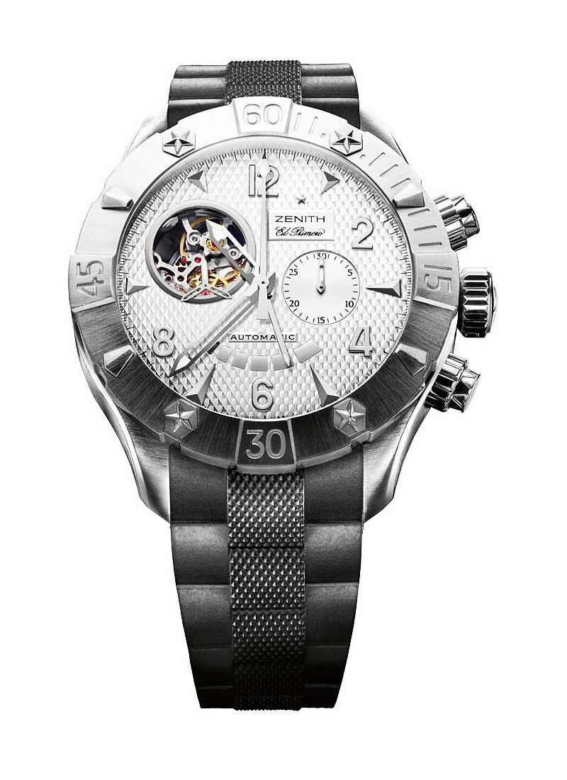 Zenith Defy Classic Open Power Reserve in Steel