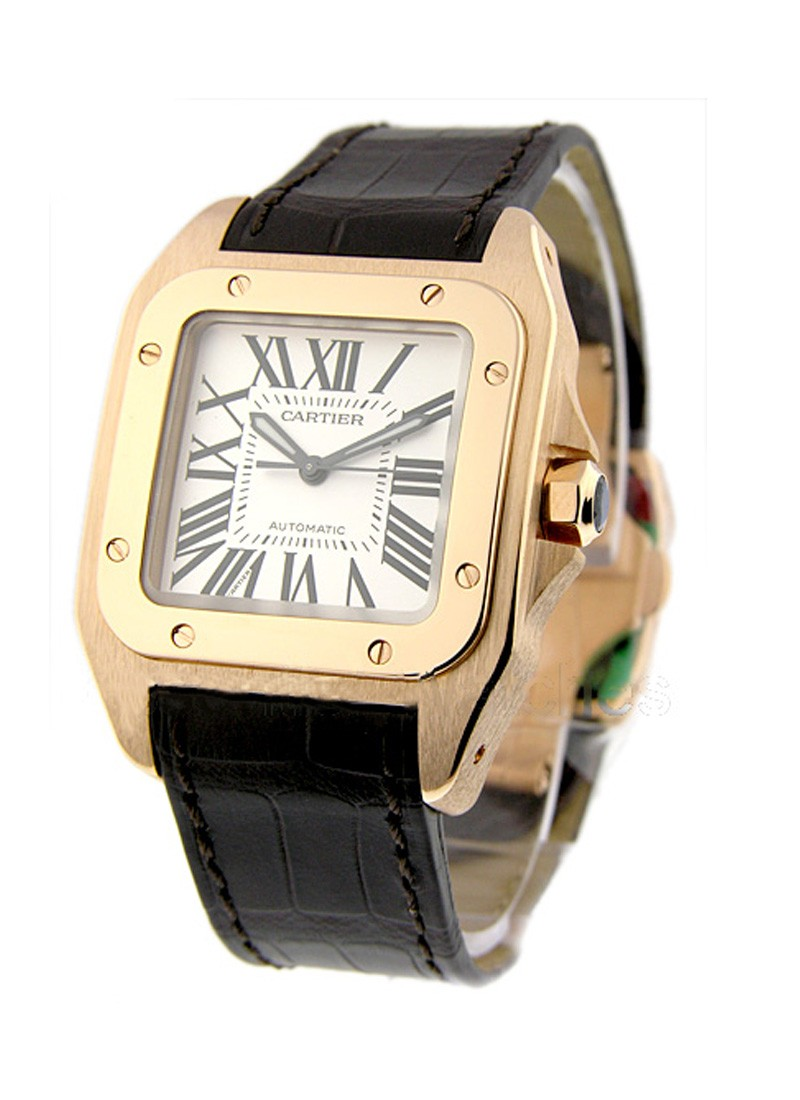Cartier Santos 100 in Rose Gold - Small  Size