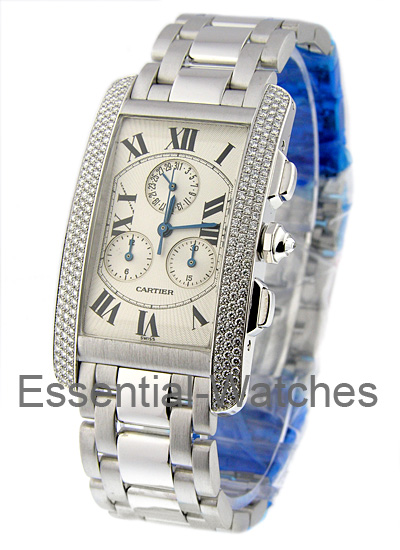 Cartier Tank Americaine - White Gold Chronograph