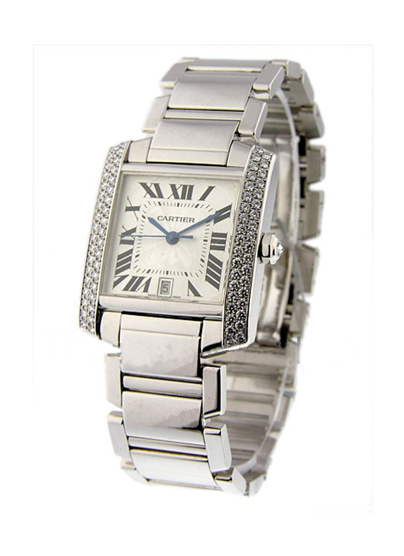 Cartier Tank Francaise White Gold   Large Size