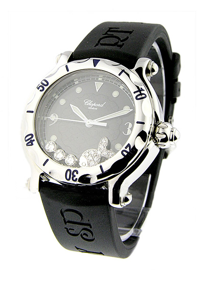 Chopard Happy Beach Fish in Steel with Floating Diamond