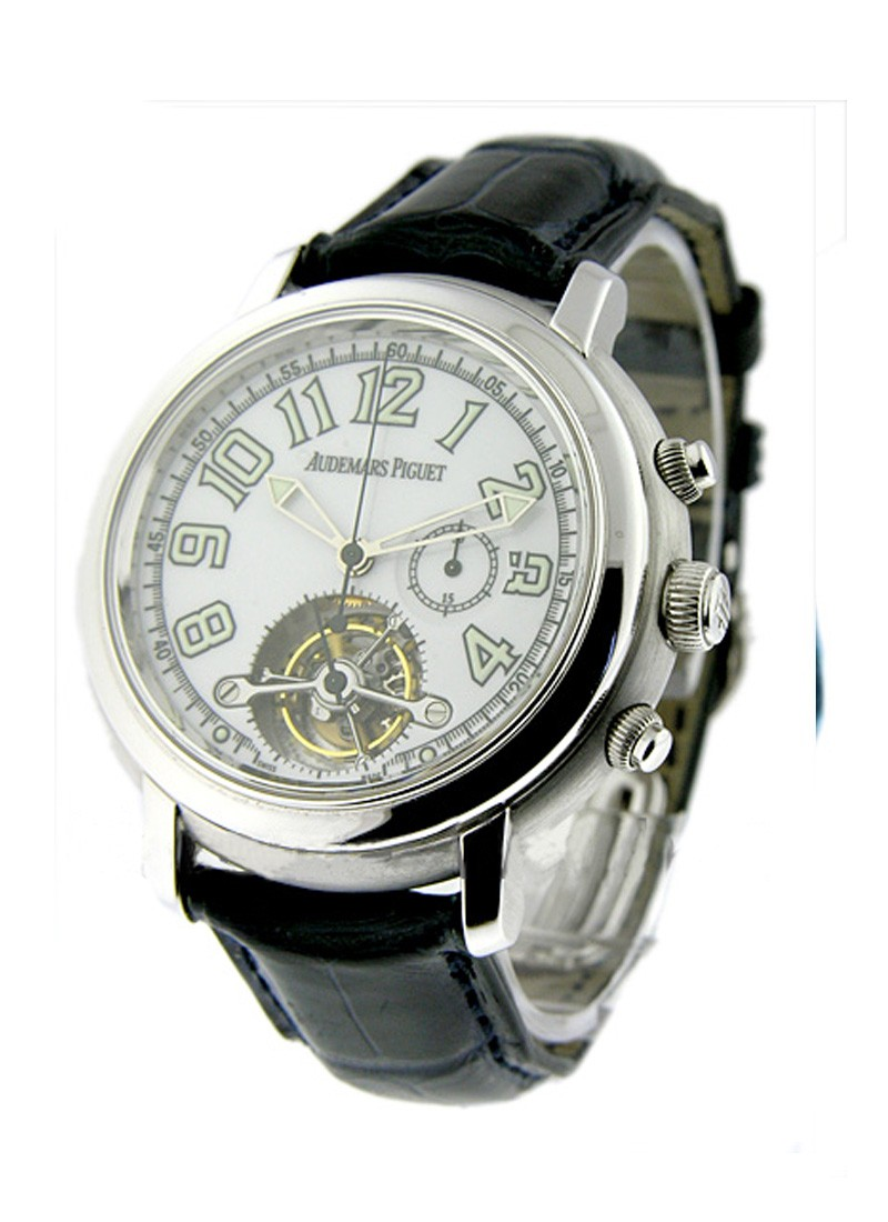 Audemars Piguet Jules Audemars Tourbillon Chronograph in White Gold