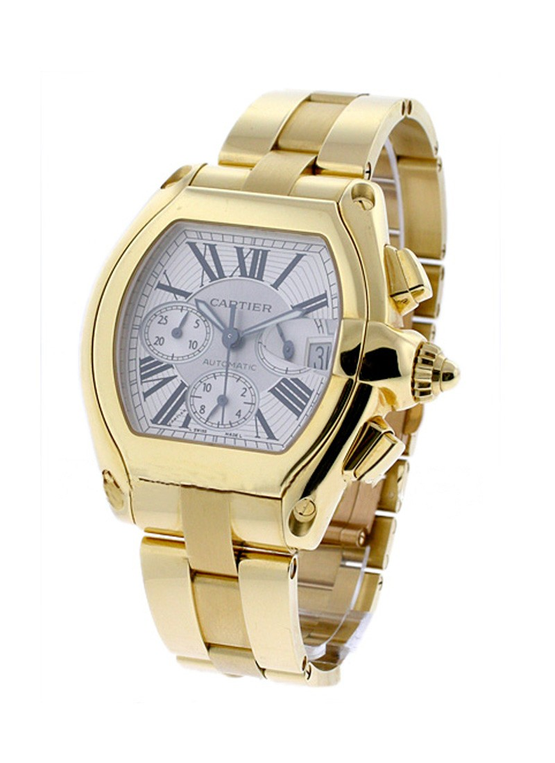 Cartier Roadster Chronograph in Yellow Gold