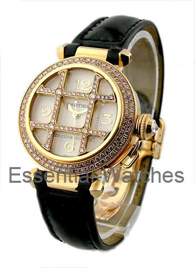 Cartier Pasha 32mm in Rose Gold with Diamond Bezel
