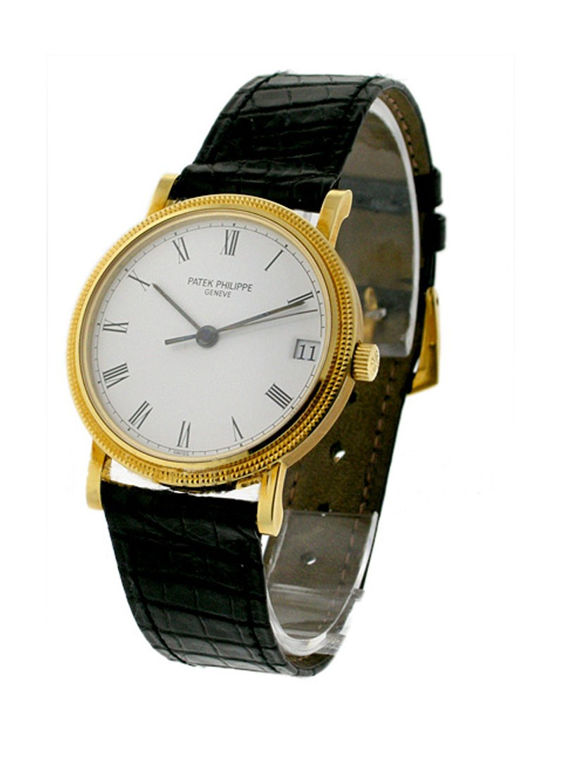 Patek Philippe Men's Yellow Gold Calatrava with Hobnail Case