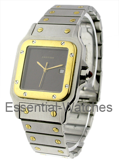 Cartier 2-Tone Santos with Yellow Gold Bezel