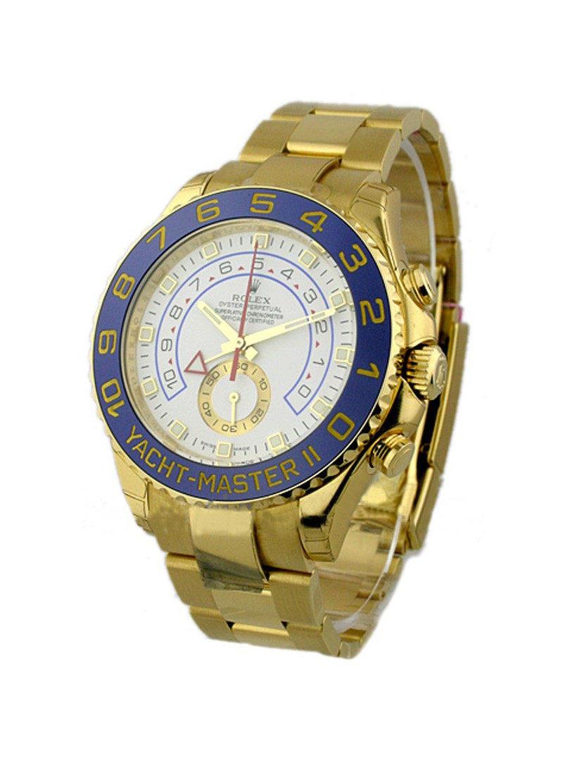 Rolex Unworn Yacht-Master II in Yellow Gold with Blue Ceramic Bezel