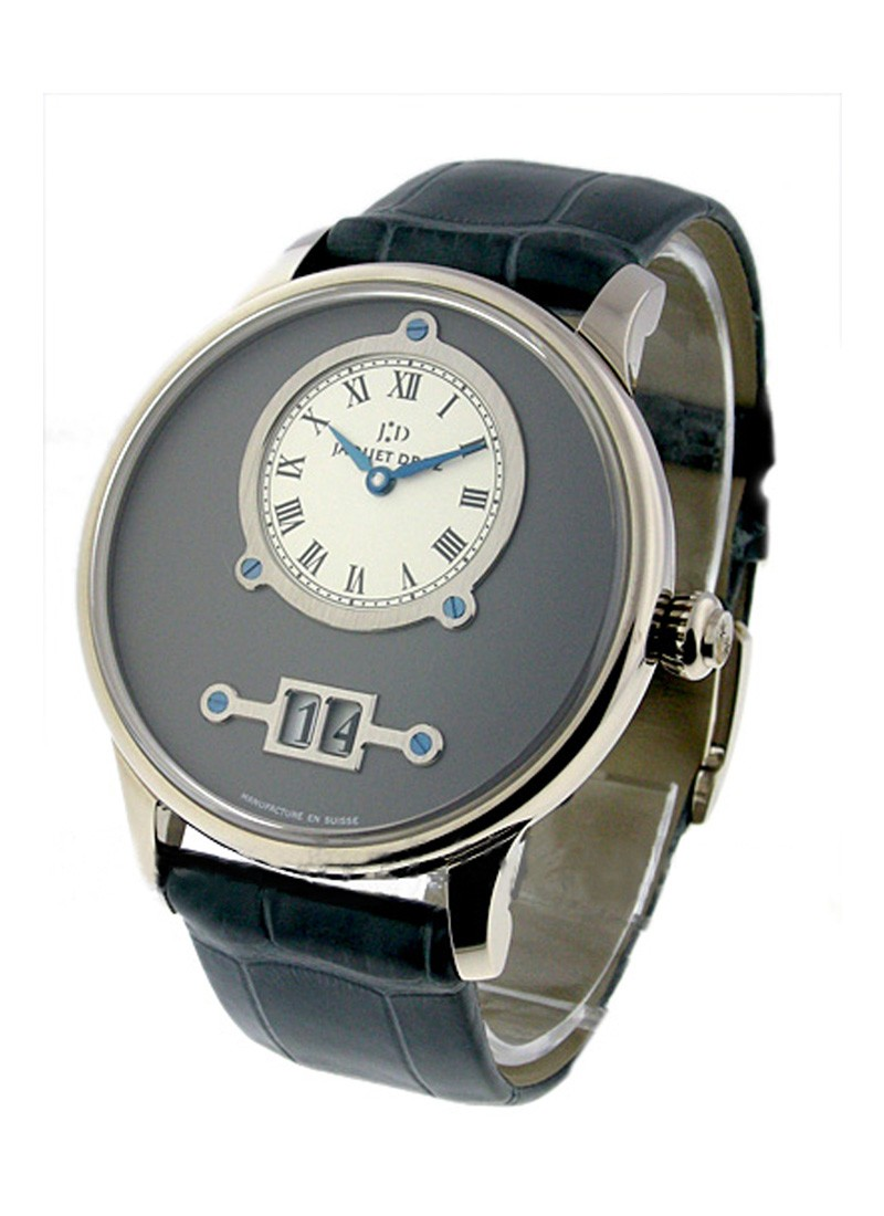 Jaquet Droz Grande Date with Silver/Grey Dial