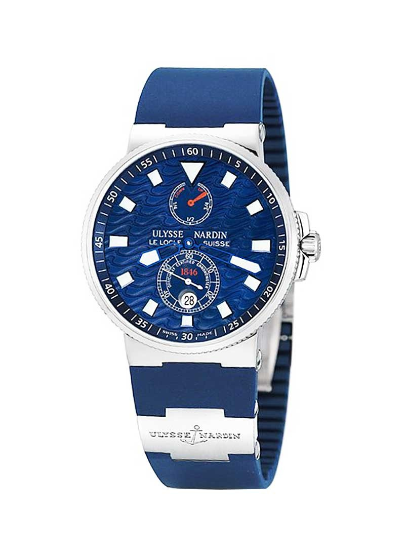 Ulysse Nardin Maxi Marine Chronometer Blue Wave in Steel