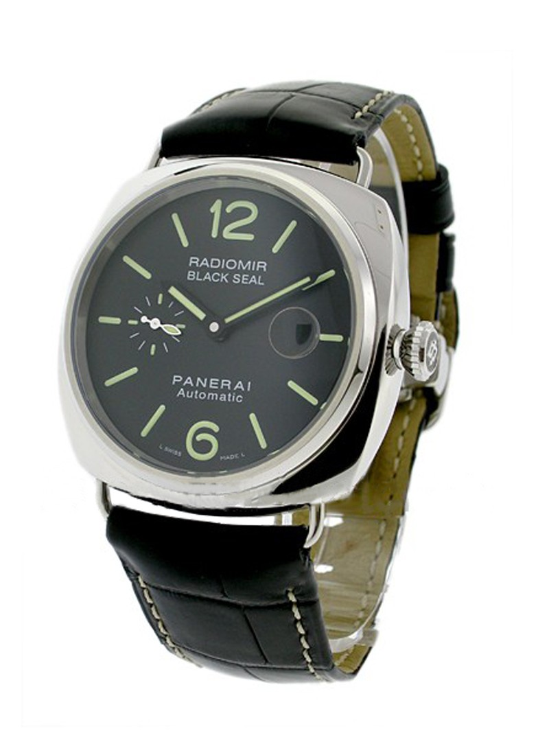 Panerai PAM 287 - Black Seal Radiomir 45mm Automatic in Steel