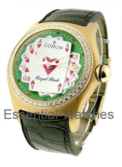 Corum Bubble Royal Flush in Rose Gold with Diamond Bezel