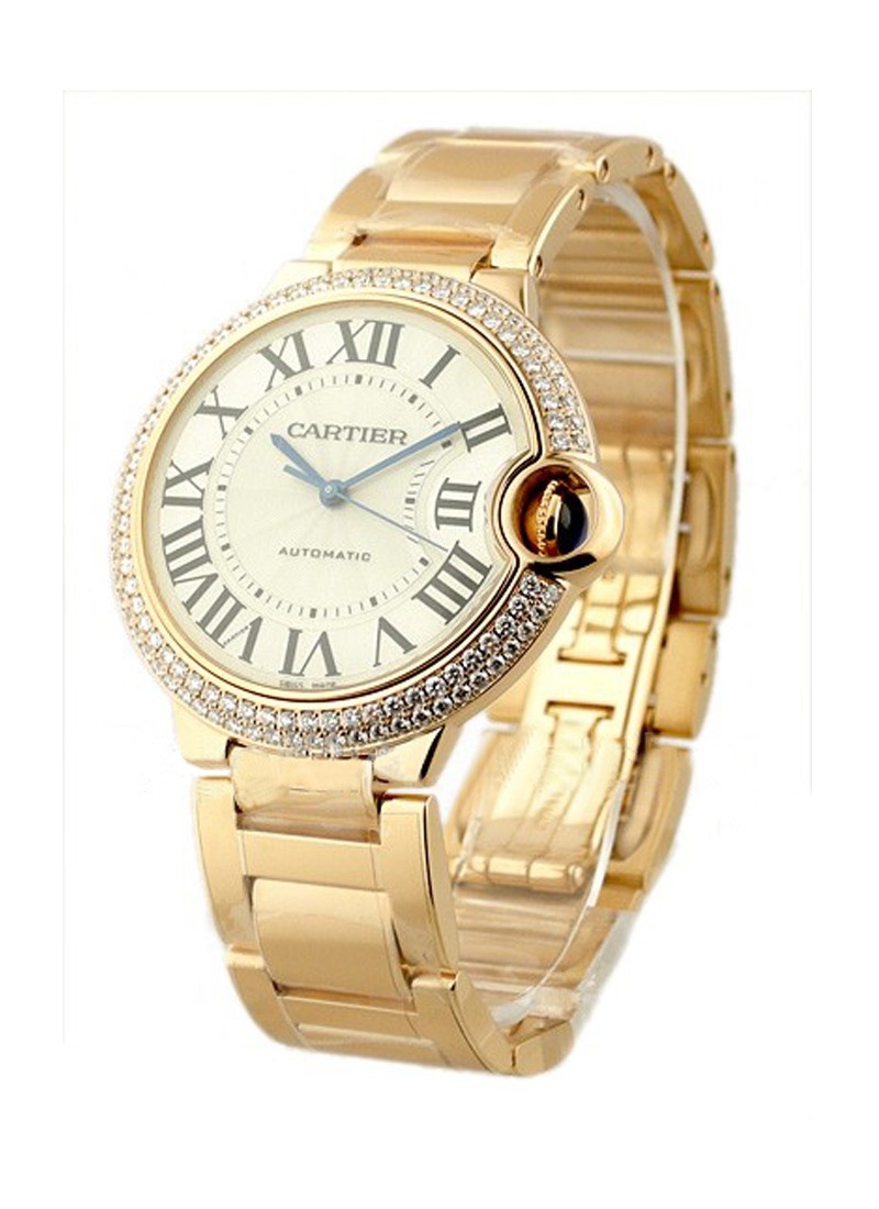 Cartier Ballon Bleu Mid Size in Rose Gold with Diamond Bezel