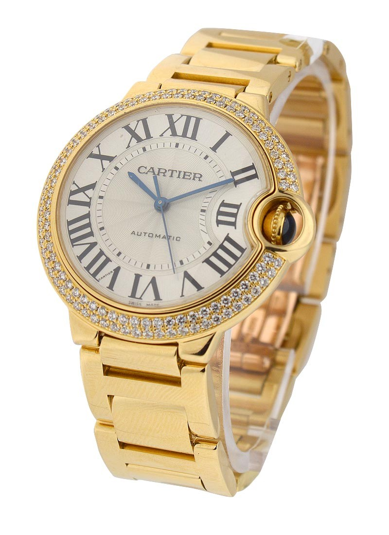 Cartier Ballon Bleu Mid Size Yellow Gold with Diamond Case