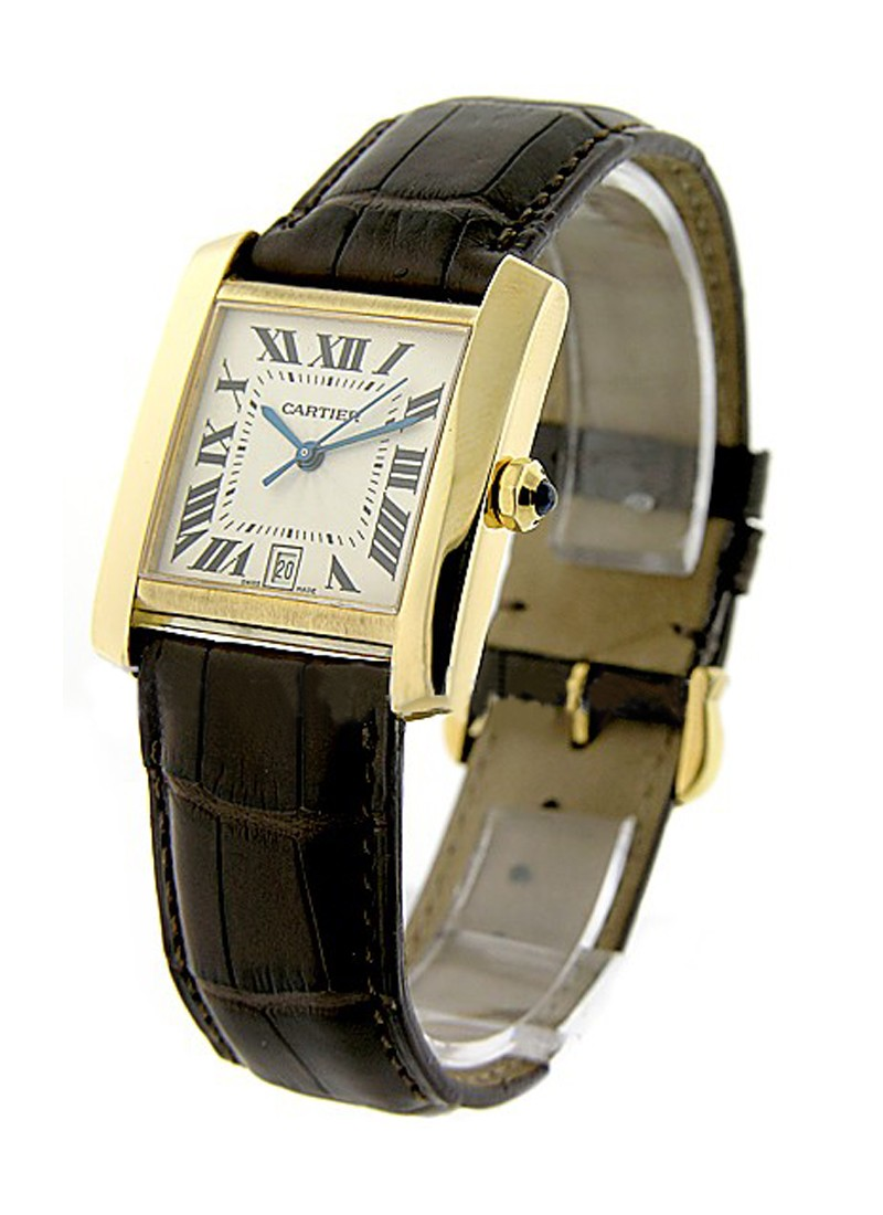 Cartier Large Size Tank Francaise in Yellow Gold