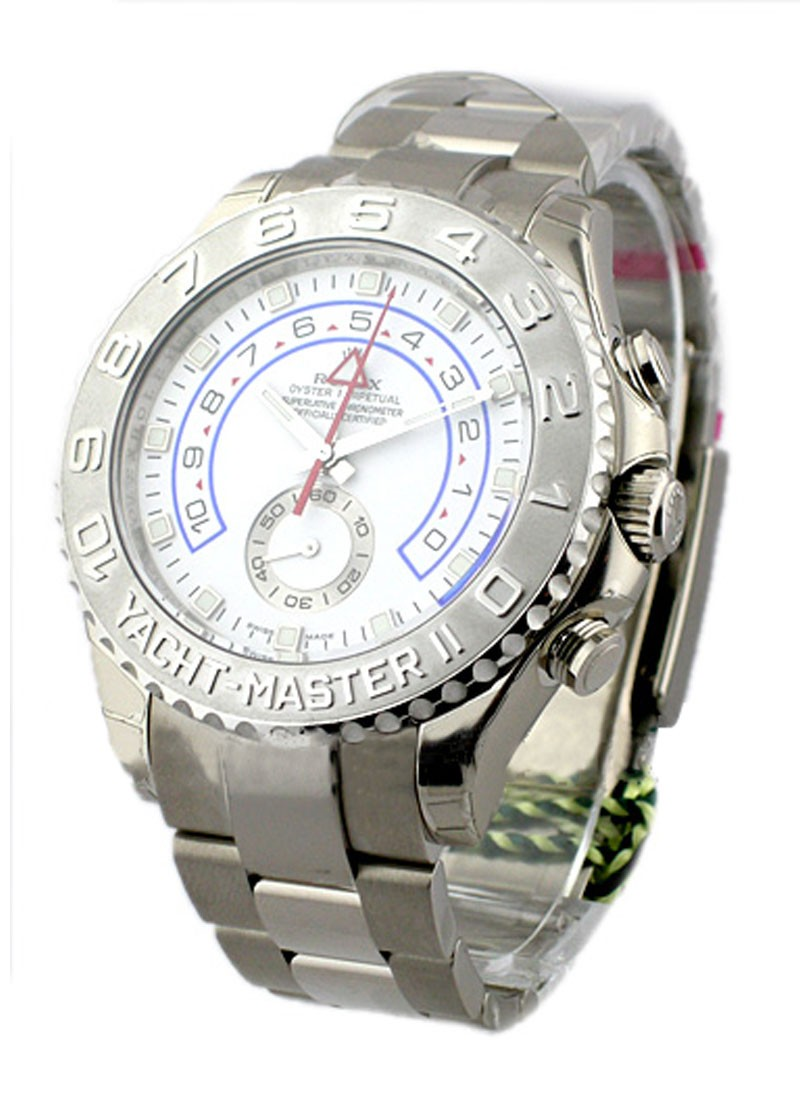 Rolex Unworn White Gold Yacht Master II in White Gold with Platinum Bezel