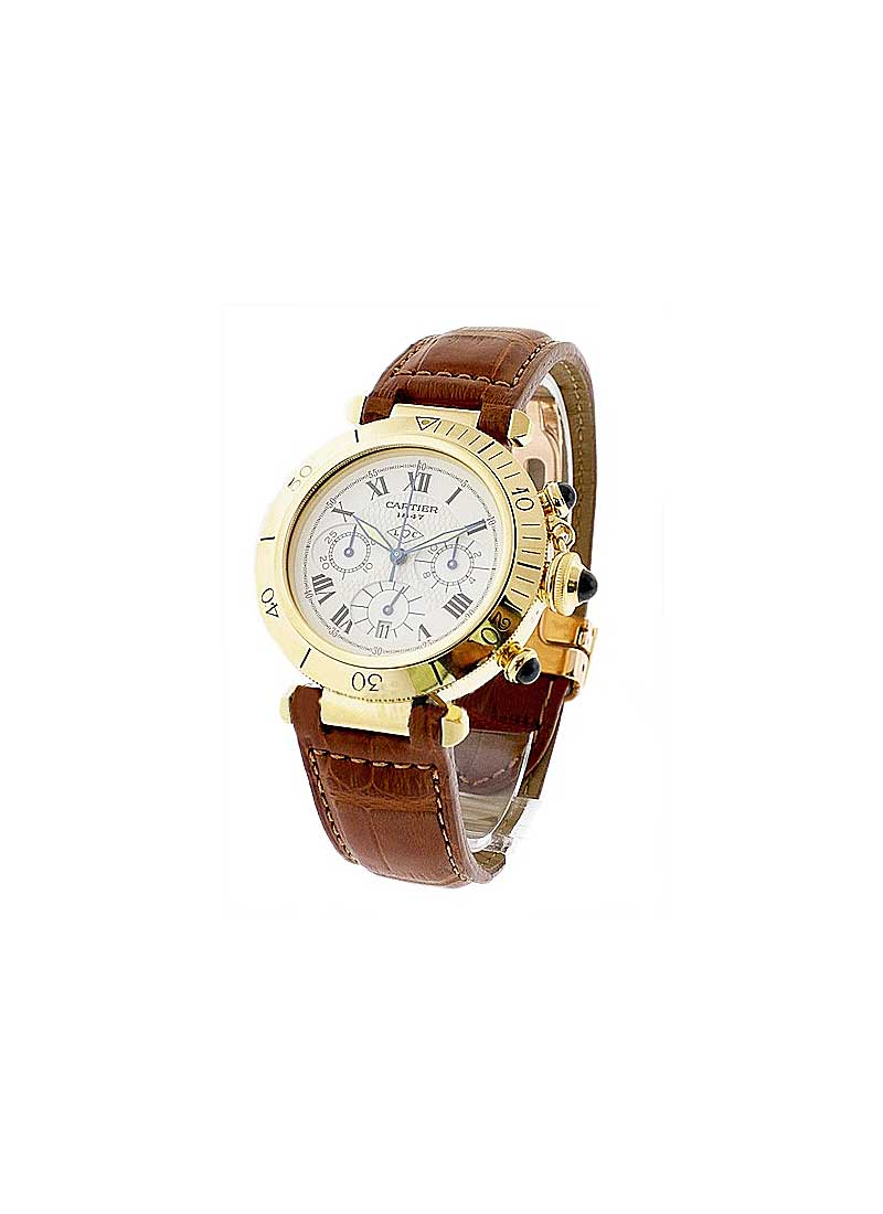 Cartier PASHA 38mm Anniversary Chronograph in Yellow Gold