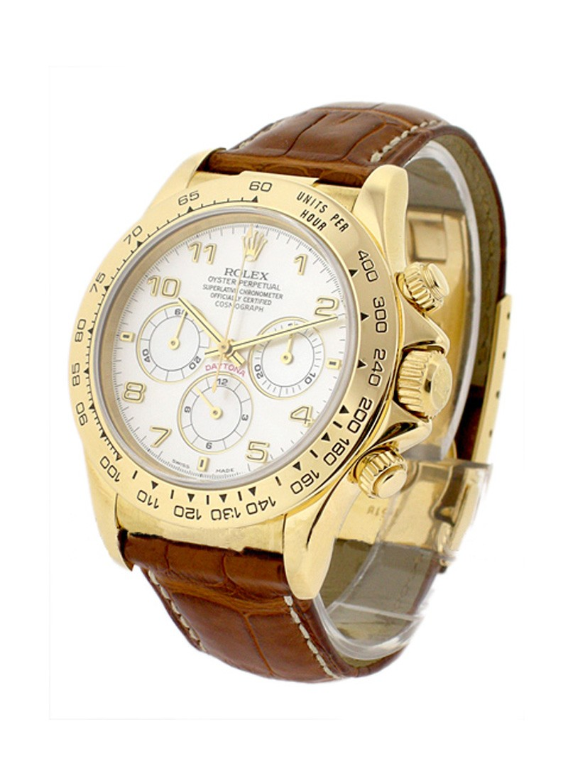 Rolex Used Daytona Zenith Movement in Yellow Gold