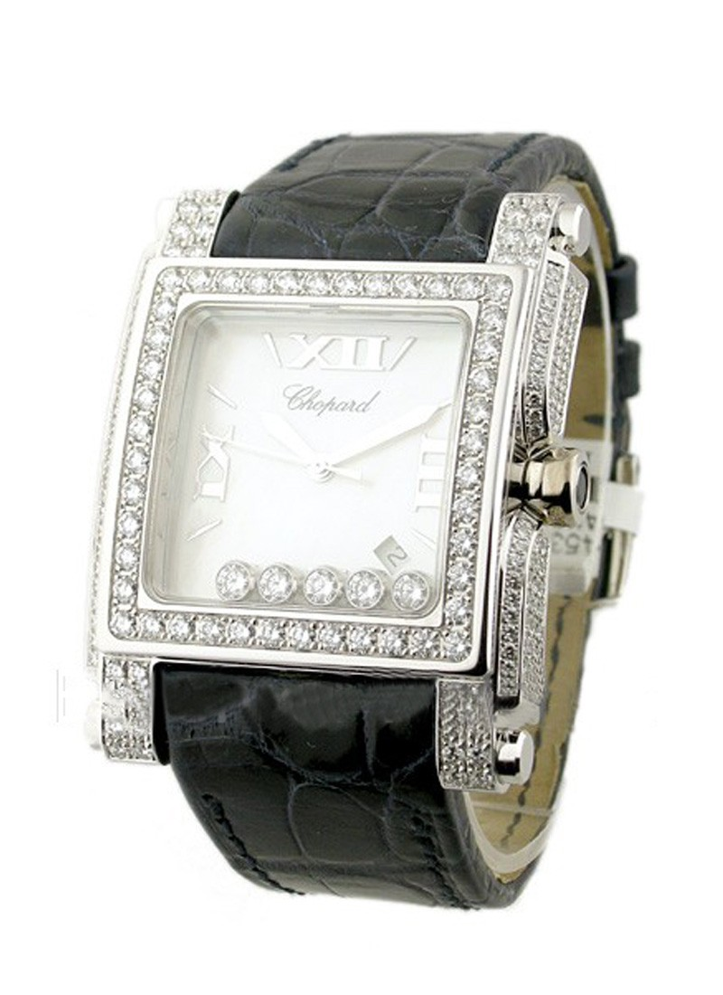 Chopard Happy Sport Square - with Diamond Bezel & Case