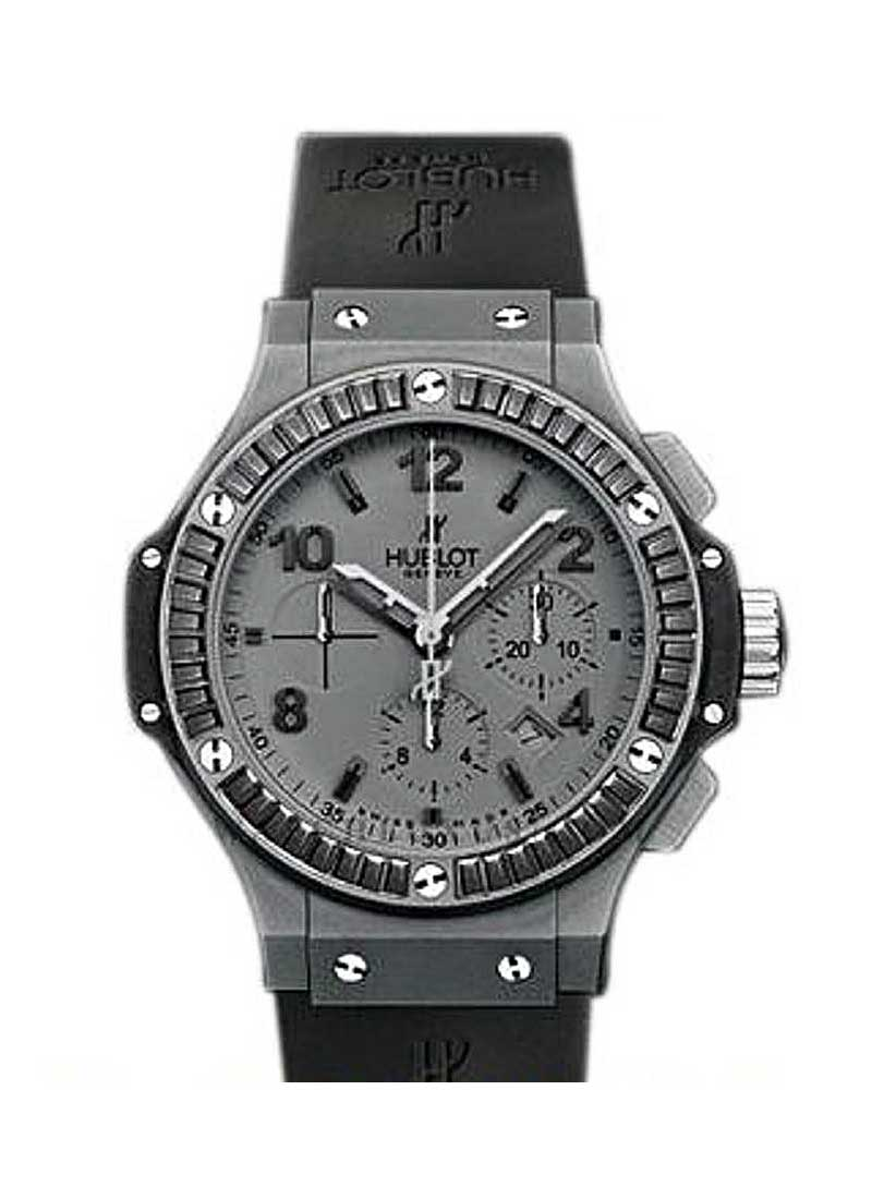 Hublot Big Bang 44mm in Tantalum Black Baguette Diamond Bezel