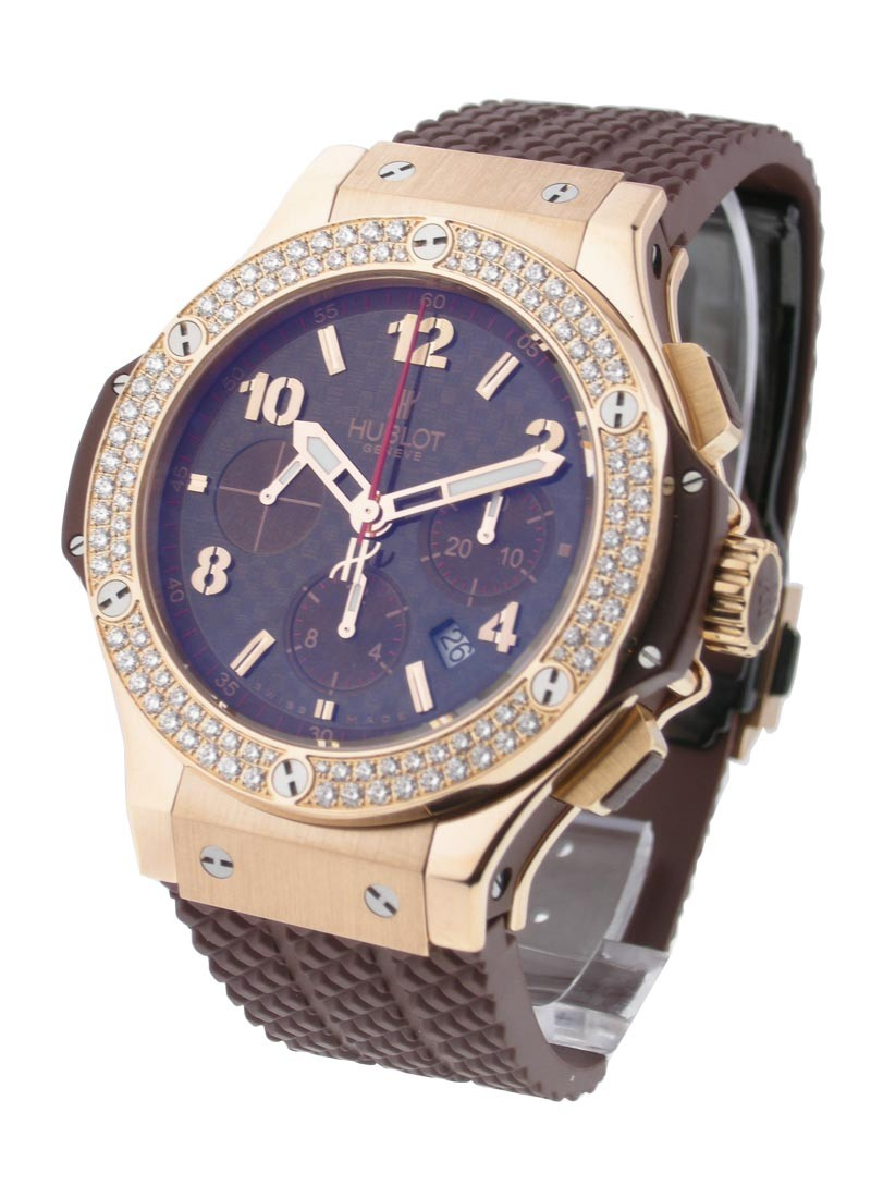Hublot Big Bang Cappuccino 44mm in Rose Gold with Diamond Bezel